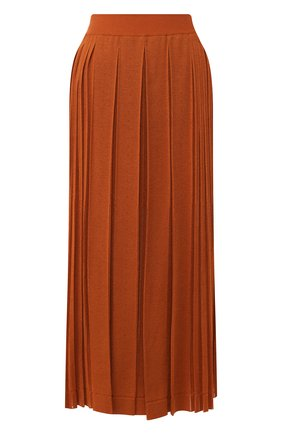 Женская шелковая юбка LORO PIANA оранжевого цвета, арт. FAL0587 | Фото 1