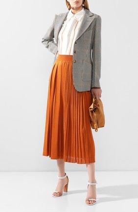 Женская шелковая юбка LORO PIANA оранжевого цвета, арт. FAL0587 | Фото 2