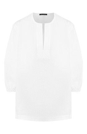 Женская хлопковая рубашка ST. JOHN белого цвета, арт. K50ZW12 | Фото 1