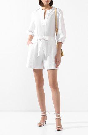 Женская хлопковая рубашка ST. JOHN белого цвета, арт. K50ZW12 | Фото 2