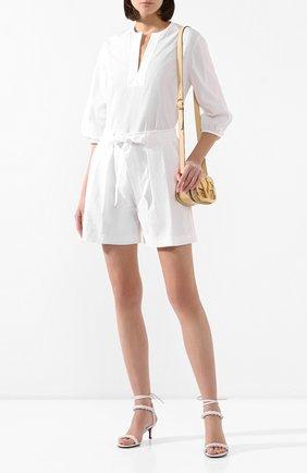 Женские хлопковые шорты ST. JOHN белого цвета, арт. K80ZW02 | Фото 2