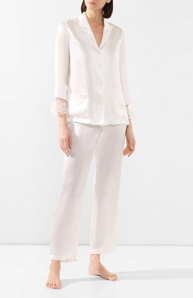 Женская шелковая пижама LISE CHARMEL белого цвета, арт. ALG3032 | Фото 1