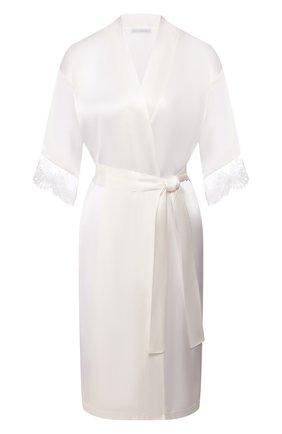 Женский шелковый халат LISE CHARMEL белого цвета, арт. ALG2032 | Фото 1