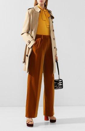 Женские брюки MARC JACOBS RUNWAY коричневого цвета, арт. W4000032   Фото 2