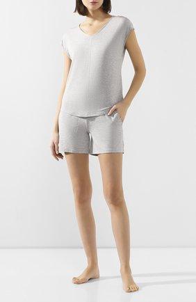 Женская футболка MEY серого цвета, арт. 16005 | Фото 2