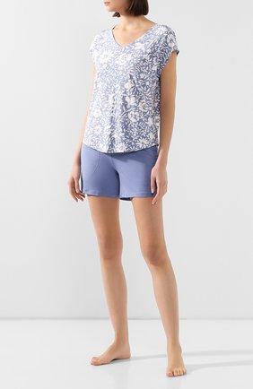 Женская футболка MEY синего цвета, арт. 16019 | Фото 2