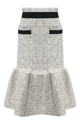 Женская юбка SACAI белого цвета, арт. 20-05008 | Фото 1