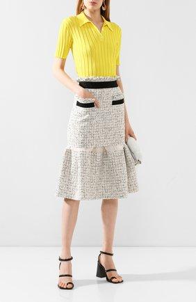 Женская юбка SACAI белого цвета, арт. 20-05008 | Фото 2