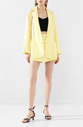 Женский льняной жакет FAITHFULL THE BRAND желтого цвета, арт. FF1502 | Фото 2