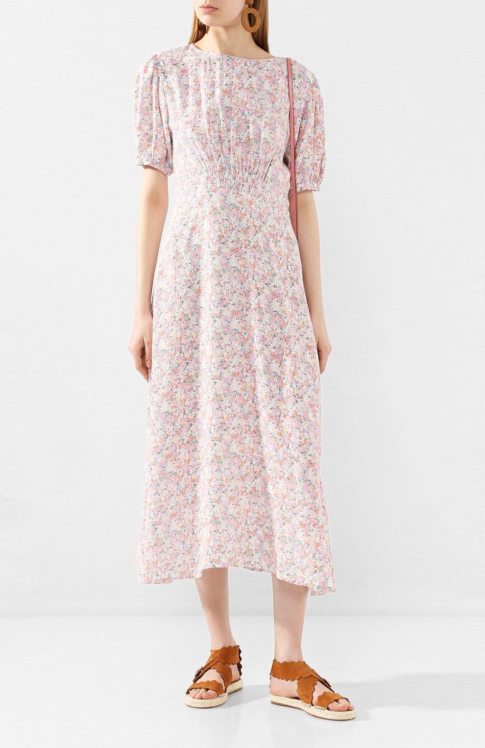 Женское платье из вискозы FAITHFULL THE BRAND розового цвета, арт. FF1503   Фото 2