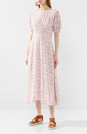 Женское платье из вискозы FAITHFULL THE BRAND розового цвета, арт. FF1503   Фото 3