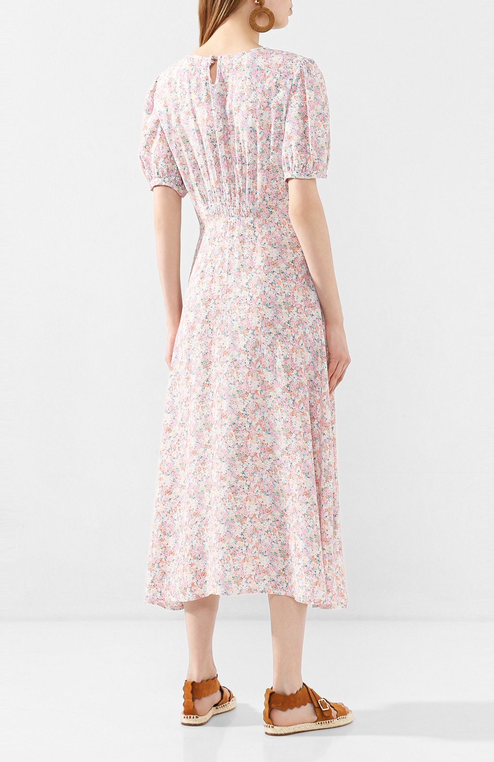 Женское платье из вискозы FAITHFULL THE BRAND розового цвета, арт. FF1503   Фото 4