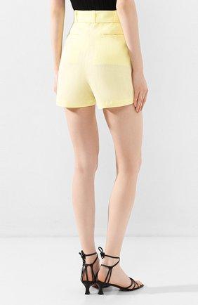Женские льняные шорты FAITHFULL THE BRAND желтого цвета, арт. FF1505 | Фото 4 (Женское Кросс-КТ: Шорты-одежда; Длина Ж (юбки, платья, шорты): Мини; Материал внешний: Лен; Стили: Романтичный)