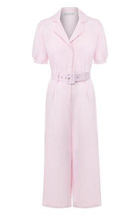 Женский льняной комбинезон FAITHFULL THE BRAND розового цвета, арт. FF1519 | Фото 1