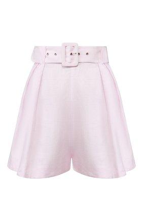 Женские льняные шорты FAITHFULL THE BRAND розового цвета, арт. FF1527 | Фото 1