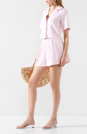 Женские льняные шорты FAITHFULL THE BRAND розового цвета, арт. FF1527 | Фото 2