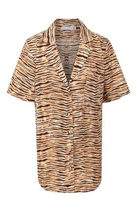 Женская льняная рубашка FAITHFULL THE BRAND коричневого цвета, арт. FF1536 | Фото 1