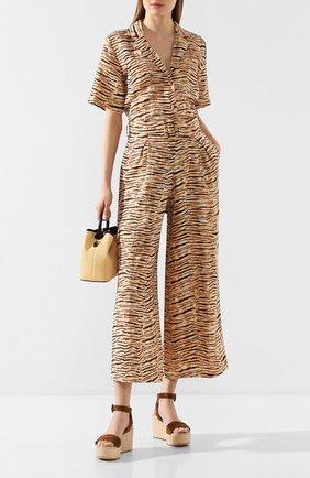 Женская льняная рубашка FAITHFULL THE BRAND коричневого цвета, арт. FF1536 | Фото 2