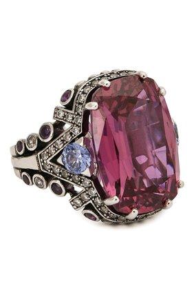 Женское кольцо QUEENSBEE разноцветного цвета, арт. 101386/14,23   Фото 1