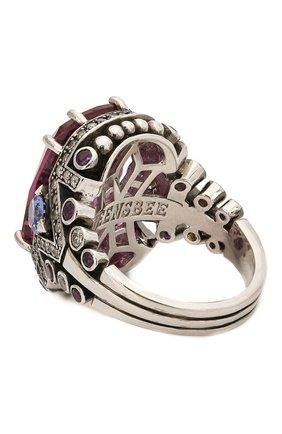 Женское кольцо QUEENSBEE разноцветного цвета, арт. 101386/14,23   Фото 2