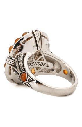 Женское кольцо QUEENSBEE разноцветного цвета, арт. 101390/12,14   Фото 2