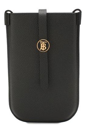 Мужского кожаный футляр anne для iphone BURBERRY черного цвета, арт. 8026583 | Фото 1