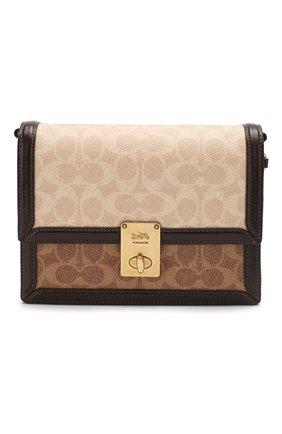 Женская сумка hutton COACH коричневого цвета, арт. 92308 | Фото 1