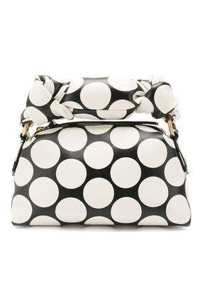 Женская сумка DRIES VAN NOTEN черно-белого цвета, арт. 201-11500-510 | Фото 1