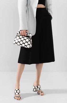 Женская сумка DRIES VAN NOTEN черно-белого цвета, арт. 201-11500-510 | Фото 2