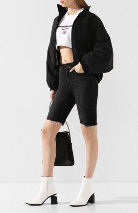 Женские кожаные ботильоны anna ALEXANDER WANG белого цвета, арт. 30C120B009 | Фото 2