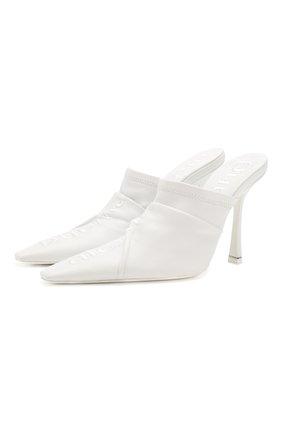 Женские кожаные мюли vanna ALEXANDER WANG белого цвета, арт. 30C120P101 | Фото 1
