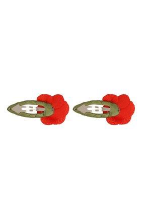 Детская комплект из двух заколок JUNEFEE кораллового цвета, арт. 6398 | Фото 2