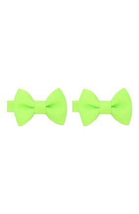 Детская комплект из двух заколок JUNEFEE зеленого цвета, арт. 6404 | Фото 1