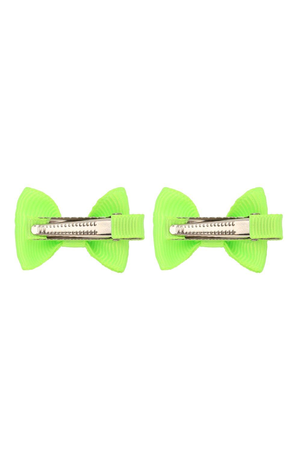 Детская комплект из двух заколок JUNEFEE зеленого цвета, арт. 6404 | Фото 2