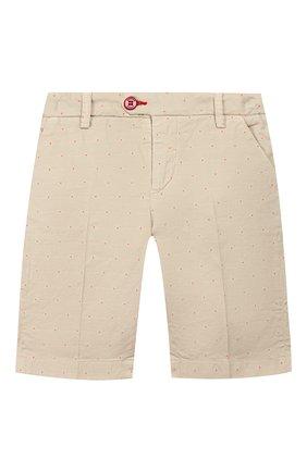 Детские хлопковые шорты BARONIO KIDS белого цвета, арт. S2105-G0LDSH | Фото 1