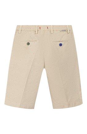 Детские хлопковые шорты BARONIO KIDS белого цвета, арт. S2105-G0LDSH | Фото 2