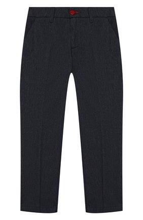 Детские хлопковые брюки BARONIO KIDS синего цвета, арт. S2051-PRINCE | Фото 1
