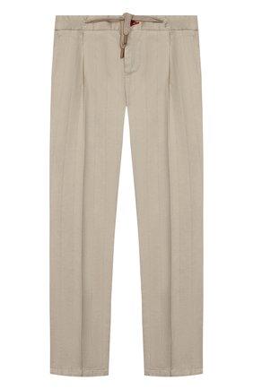 Детские хлопковые брюки BARONIO KIDS бежевого цвета, арт. S2015-SN0W | Фото 1