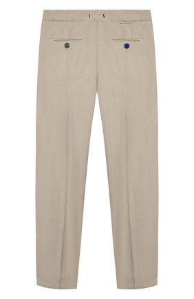 Детские хлопковые брюки BARONIO KIDS бежевого цвета, арт. S2015-SN0W | Фото 2