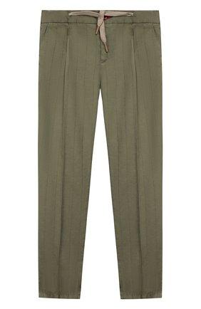 Детские хлопковые брюки BARONIO KIDS хаки цвета, арт. S2015-SN0W | Фото 1