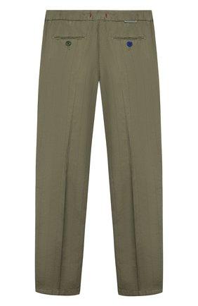 Детские хлопковые брюки BARONIO KIDS хаки цвета, арт. S2015-SN0W | Фото 2