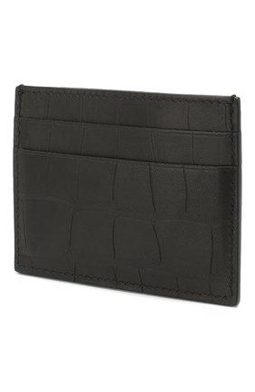 Мужской кожаный футляр для кредитных карт  b. BALENCIAGA черного цвета, арт. 601347/1JU7W | Фото 2