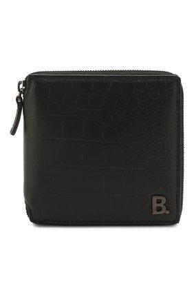 Мужской кожаное портмоне  b. BALENCIAGA черного цвета, арт. 601354/1JU7W | Фото 1