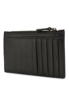 Мужской кожаный футляр для кредитных карт  b. BALENCIAGA черного цвета, арт. 601348/1JU7W | Фото 2