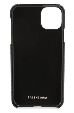 Мужской кожаный чехол для iphone 11 pro max BALENCIAGA черного цвета, арт. 618388/1IZD0 | Фото 2