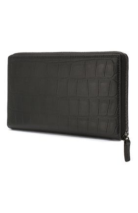 Мужской кожаное портмоне  b. BALENCIAGA черного цвета, арт. 601352/1JU7W | Фото 2