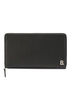 Мужской кожаное портмоне  b. BALENCIAGA черного цвета, арт. 601352/1IZ03 | Фото 1