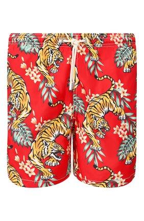 Детского плавки-шорты MC2 SAINT BARTH красного цвета, арт. STBM LIGHTING/LIG0001 | Фото 1