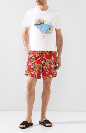 Детского плавки-шорты MC2 SAINT BARTH красного цвета, арт. STBM LIGHTING/LIG0001 | Фото 2