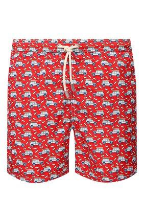 Детского плавки-шорты MC2 SAINT BARTH красного цвета, арт. STBM LIGHTING MICR0 FANTASY/LIG0003 | Фото 1